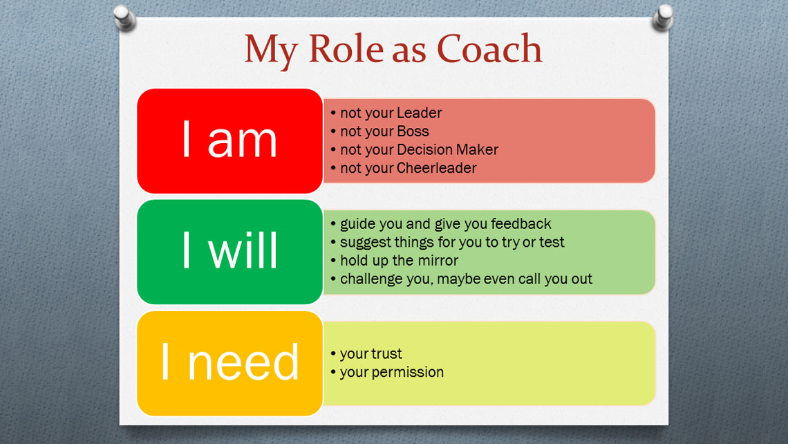 My Role as Coach